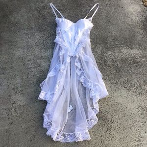 Vintage Negligee Corset Style Nightgown Honeymoon